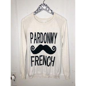 Pardon My French Sweater